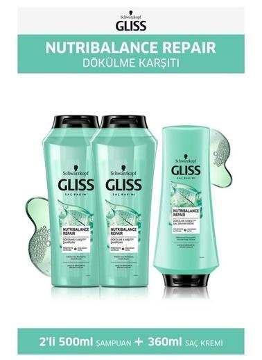 Gliss Gliss Nutribalance Şampuan 500 Ml X2 Adet + Saç Kremi 360 Ml Renksiz